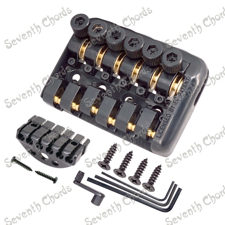 New fixed style headless electric guitar bridge tailpiece ball string code zebra zinc alloy 6 string top loading fixed hard tail hardtail bridge for electric guitar replacement hardtail fixed bridge