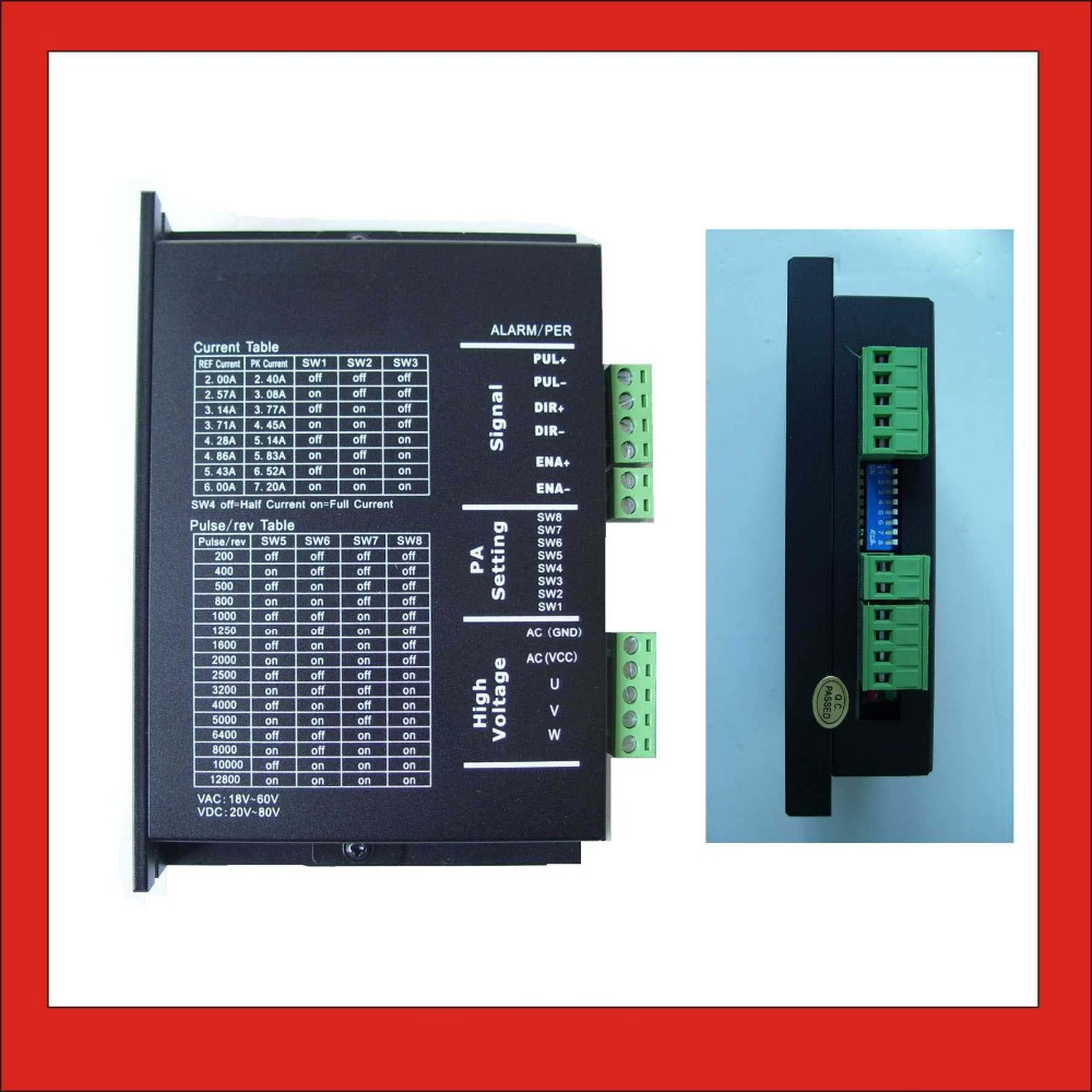 цены 3 phase Stepper Motor Driver 3MA860 For NEMA 23 34 Stepper 18-80V DC or 18~60V AC input 2.0-8.3A output for CNC