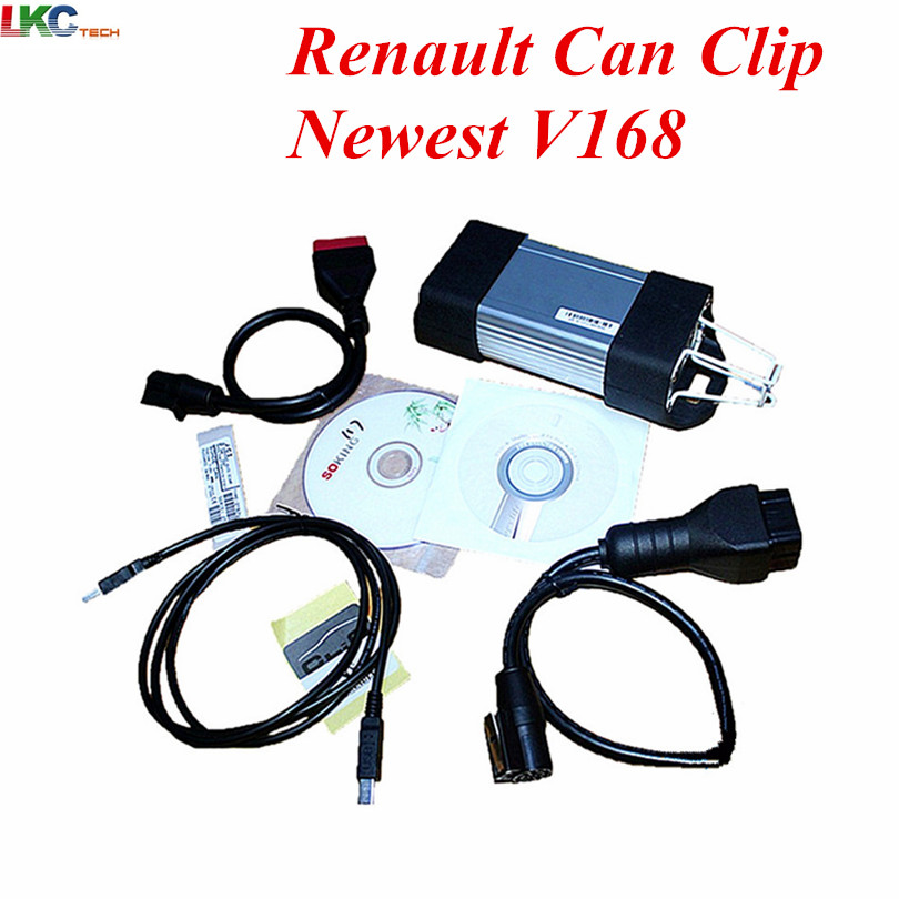 High Quality Latest Version V168 For Re-nault Can Clip Professional Diagnostic Tool with Multi-language For Re--nault vdm ucandas wifi full system automotive diagnostic tool multi language newest version v3 73 include for h onda adapter