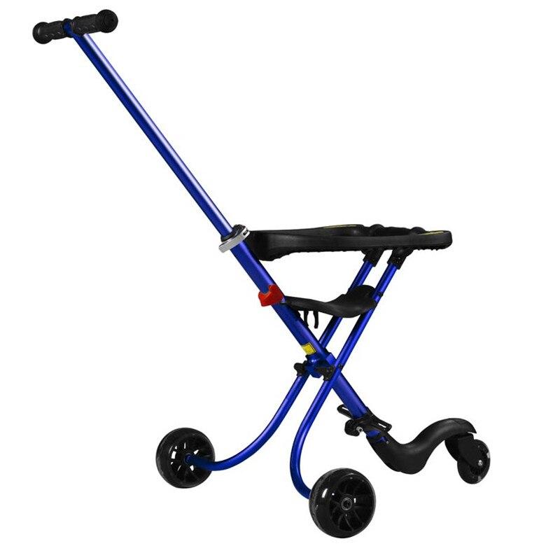 Складной три колеса Мамам и детям коляска Четыре цвета доступны все Алюминий сплав Анти опрокидывание пены колесо Детские коляски