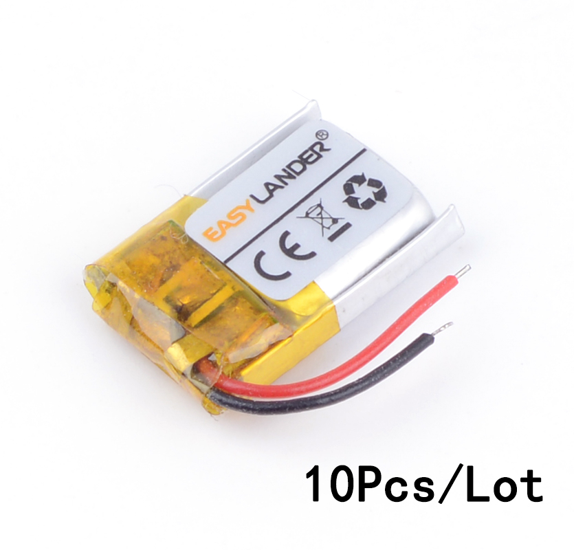 10pcs/Lot <font><b>3.7V</b></font> <font><b>50mAh</b></font> Rechargeable li Polymer Li-ion <font><b>Battery</b></font> For bluetooth headset mp3/mp4 speaker mouse Bracelet Wrist 341018 image