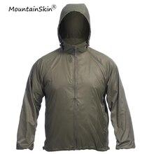 Mountainskin Для Мужчин's Повседневное ультра-легкие куртки милитари быстросохнущая кожи Пальто Камуфляж Армии наружное Верхняя одежда Мужские брендовые LA633