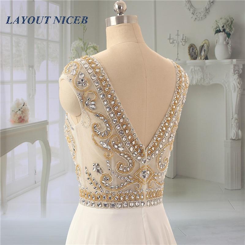 Sjajan vještački dijamant kuglice večernje haljine Scoop vratu - Haljina za posebne prigode - Foto 4