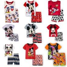 1ddc7908c70b7 Pyjamas enfants bébé vêtements nouveau mignon garçon Mickey Pyjamas enfants  coton été à manches courtes dessin