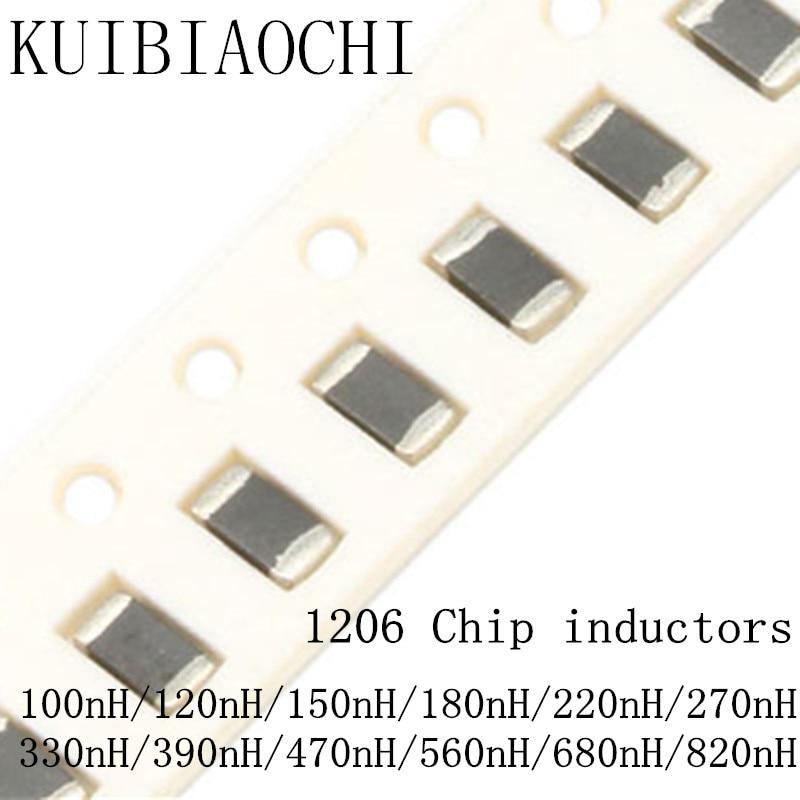 цена на 50pcs/lot 1206 SMD chip inductor 3216 100nH 120nH 150nH 180nH 220nH 270nH 330nH 390nH 470nH 560nH 680nH 820nH