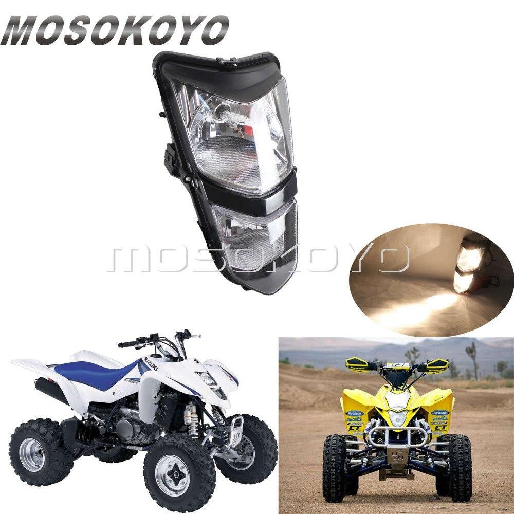 Motorcycle 12V 25W Headlight Dual Twin Headlamp for Suzuki ATV Quadsport LTZ 400 LT-Z400Z LTZ400 2003-08 Kawasaki KFX400 KSF400