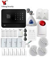YoBang безопасности Сенсорный экран Клавиатура WI FI GSM IOS приложение для Android Управления Офис охранной сигнализации Системы Беспроводной IP Каме