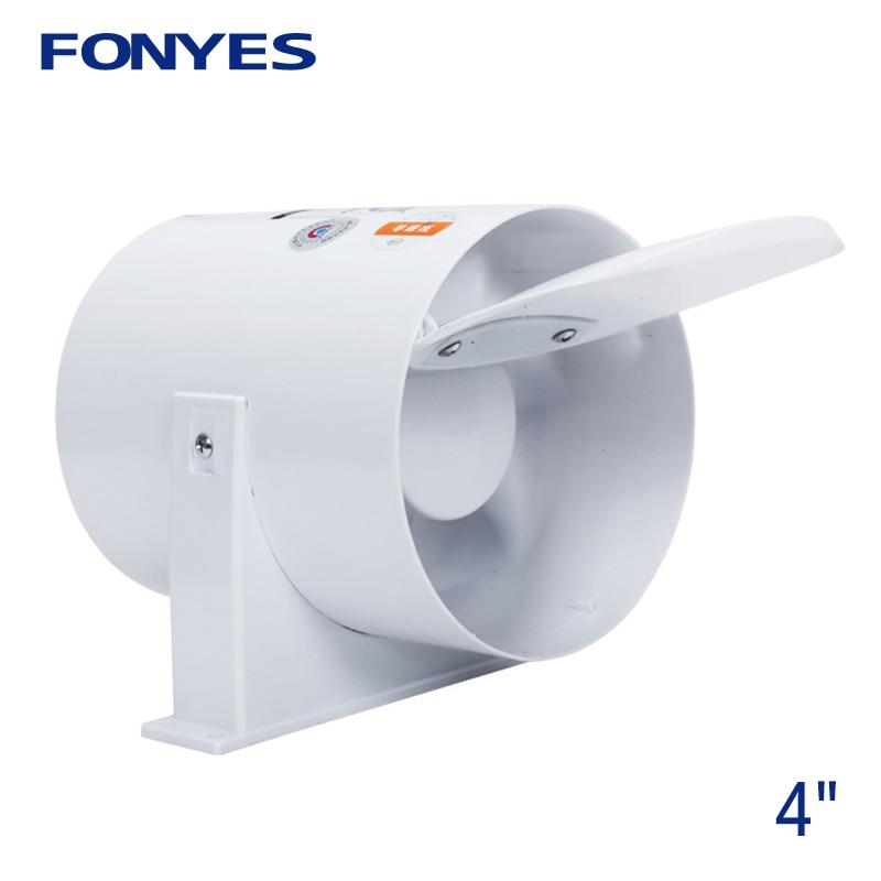 4 Inch Inline Duct Fan Pipe Extractor Exhaust Fan Mini Ventilation Fan For Ceiling Bathroom Kitchen Toilet Ventilator 100mm 220V