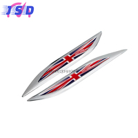 Car Accessories Universal Blade Fender Stickers Metal Badge Emblem Decals For UK Flag Logo For Toyota