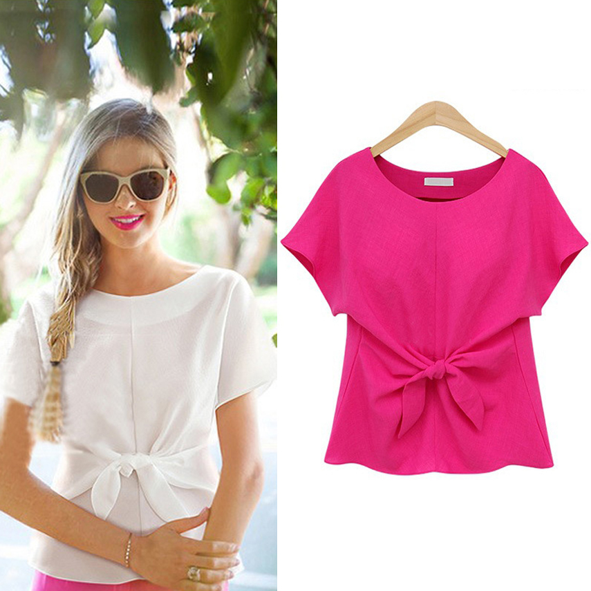 e6eb41d99efa0 New ladies office shirts 2016 working women tops chiffon blouse short  sleeve pink blue and white women blouse chemise femme 1277-in Blouses    Shirts from ...