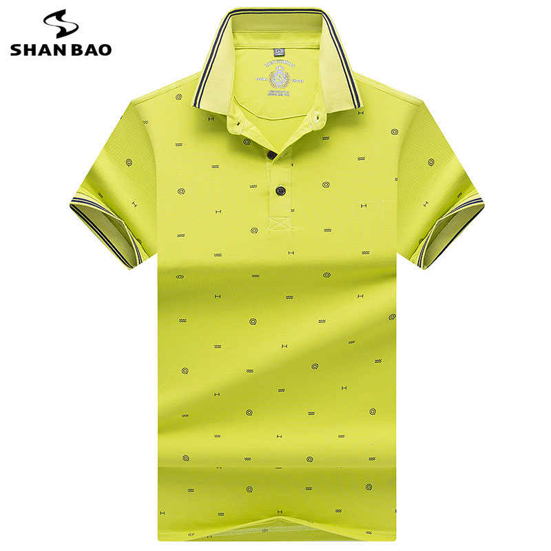 cbd662cf6 2019 summer new style printed lapels stripes men's business casual polo  luxury high quality cotton short