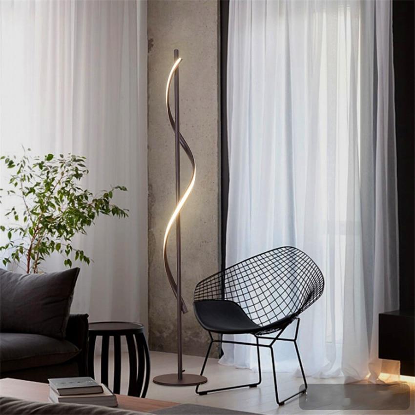 Image 3 - JAXLONG Modern LED Floor Lamp Living Rooms Standing Lamp Pole Floor Light Rooms Standing Light Bedrooms Office Dimmable Lighting-in Floor Lamps from Lights & Lighting