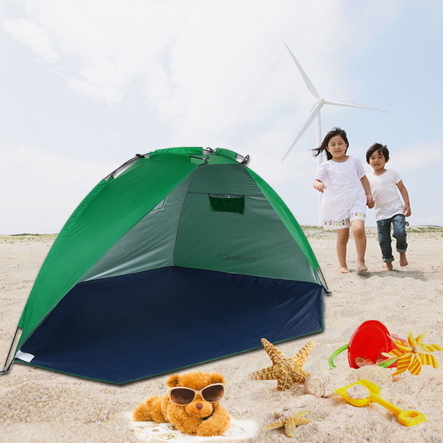 TOMSHOO 2 Persons Outdoor Beach Tents Sun Shelters Summer C&ing Tent Outdoor Sunshade Tent for Fishing & TOMSHOO 2 Persons Outdoor Beach Tents Sun Shelters Summer Camping ...