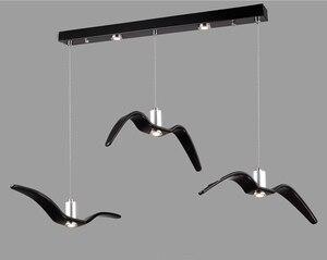 Image 5 - Nordic lampada a sospensione Gabbiano Disegno Lampadari Led Per Bar/Cucina Birds Lampadario A Soffitto Corpo Illuminante Luce Apparecchio