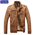 Men's Slim Fit Brand Pu Leather Jacket Coat Men Solid Korean Jackets Plus Velvet Long Sleeve Clothing Outwear Plus Size M-3XL