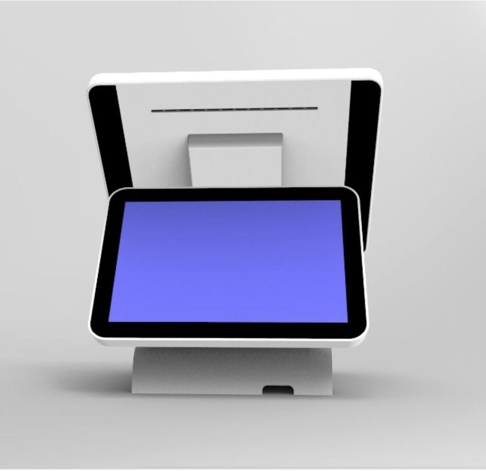 Dual Display 15 Inch All In One Capacitive Touch Screen Pos