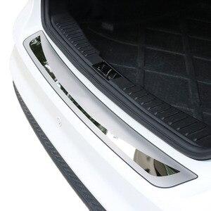 Image 4 - Osłona tylnego zderzaka Deck krok Panel osłona buta nadające się do Toyota Corolla E170 2014 2015 2016 2017 listwa progowa wykończenie bagażnika ze stali nierdzewnej
