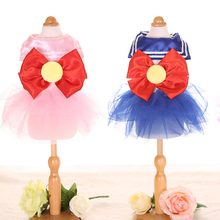 Dress for Dog Cat Skirt Bowknot Sailor Moon Skirt Pet Puppy Princess Dresses Clothes for Samll Dogs Girl Female Dogs Clothing