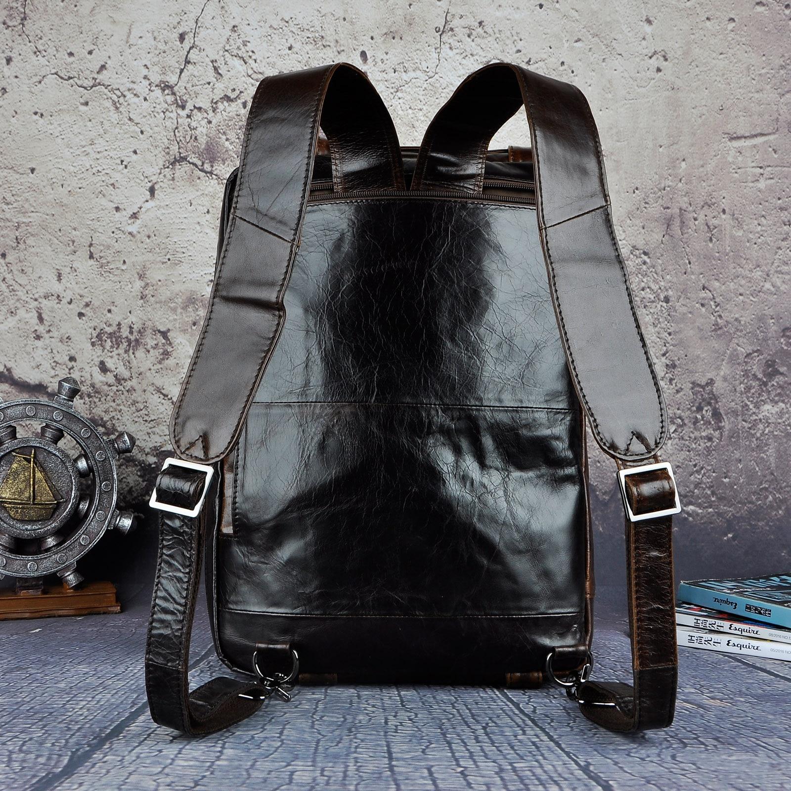 Véritable en cuir véritable mode mallette d'affaires Messenger sac mâle Design voyage ordinateur portable porte-documents fourre-tout portefeuille sac k1013c - 4
