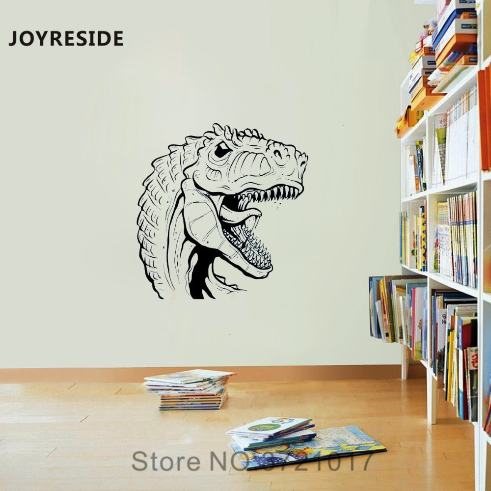 JOYRESIDE Animal Raptor Wall Dinosaur Ancient Reptile Decal Vinyl Sticker Decor Bedroom Kids Room Living Room Interior MuralA348