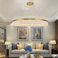 Современные светодиодные люстры с дистанционное управление алюминий блеск кольцо лампы для гостиная спальня ресторан кухня