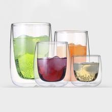 New 80/200/240/400ML Creative Double Wall Glass Coffee Beer Tea Milk Mug Handmade Heat-resistant Drinkware home&kitchen cup A30
