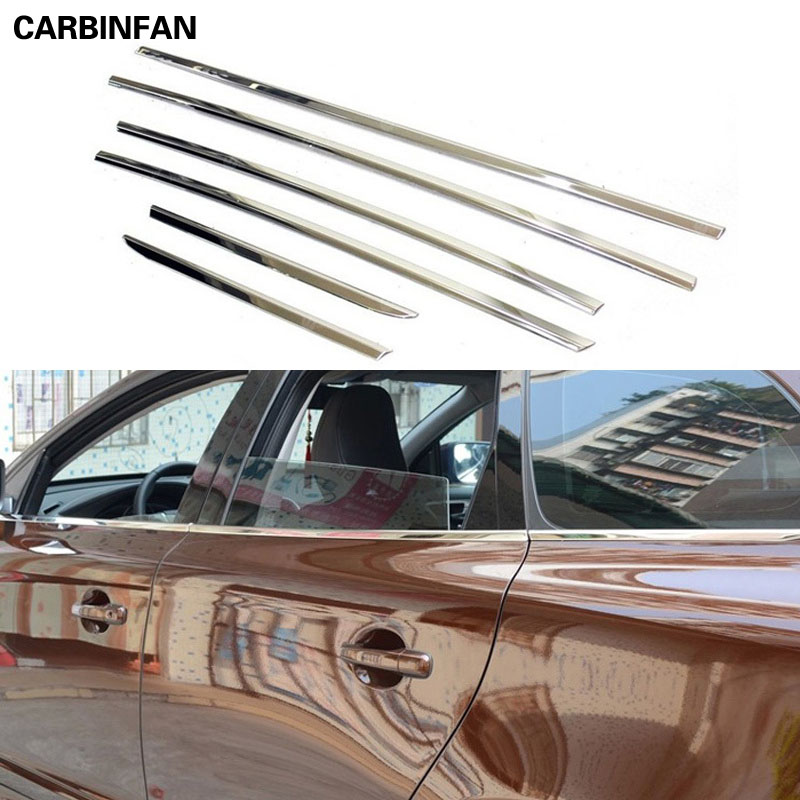 For Honda Accord 10th 2018 Stainless Steel Car Window Protective Cover Trim 6pcs