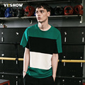 VIISHOW Men T SHIRT Short Sleeve Striped T Shirt Men Casual T-Shirt Tops Summer Men's Clothing plus size S-3XL TD89162