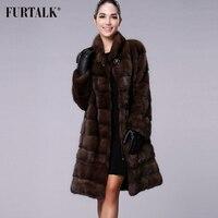 FURTALK Real Natural Mink Fur Coat Women Winter Long Mink Fur Coat Fur Jacket for Female High quality Fur Clothes