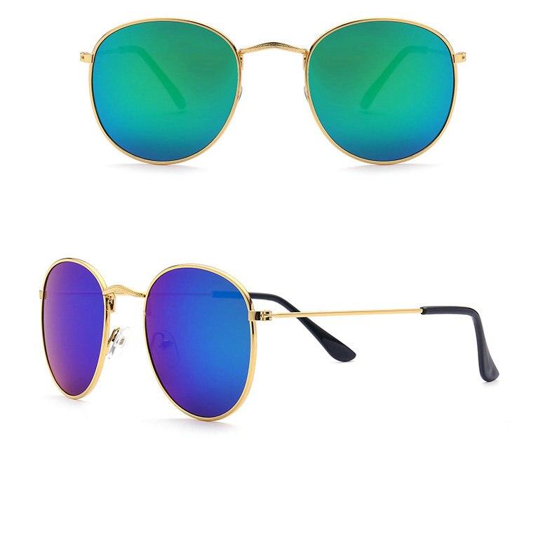 2018 Brand Glasses Vintage Glasses Color film sun glasses Metal Frame fashion Round Men Female Gold Glasses Unisex BG141-147