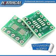 10 PCS SOT23 MSOP10 UMAX para DIP10 Transferência Board Pin DIP Placa Adaptadora Passo hjxrhgal