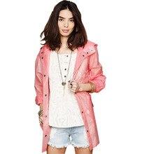 Raincoat TPU  Printing Raincoat Hooded Waterproof  Outdoor Tour Rainwear Women Raincoat Girl Fashion Rain Coat