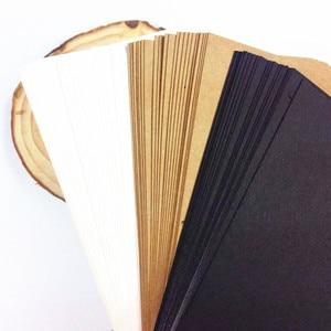Image 2 - 120 قطعة/الوحدة بطاقة سادة كلاسيكية للطلاب diy بها بنفسك متعددة الوظائف بطاقة رسالة ملاحظة هدية بطاقات بريدية بطاقة كلمة لرسم
