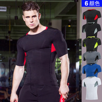 Compression Shirt Short Sleeve T-shirts Men 2017 Summer Fitness Male Quick Dry Bodybuilding Crossfit Tops tight tshirt