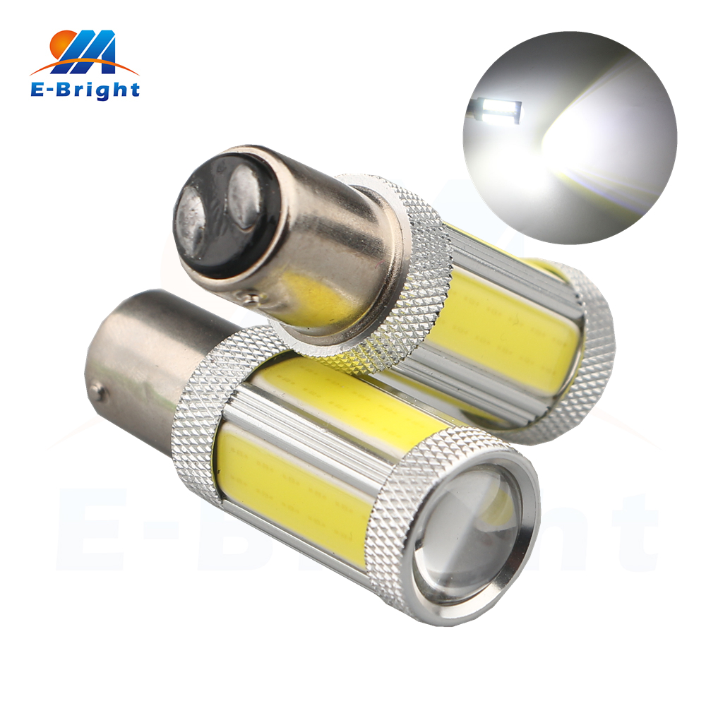2pcs 12V 1157 BAY15D 4 COB 3528 4 SMD LED Bulb Car Light Source Brake Turn Stop Brake Indicator Reverse Lamp White Free Shipping