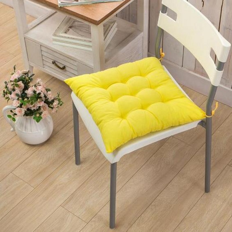 Free Shipping 40 40cm Chair Pad Cushion Pearl Cotton: 40X40CM Modern Square Solid Cushion Throw Pillow Cotton