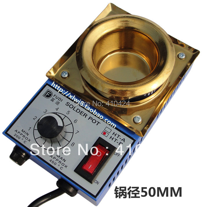 220V 150W solder pot tin melting furnace thermoregulation stainless steel 50mm 200 ~ 450 centigrade