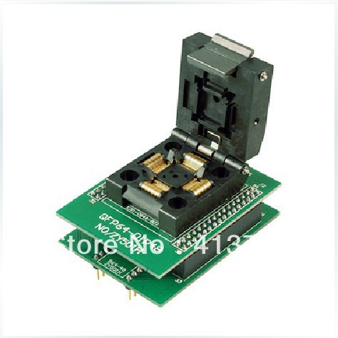 Ucos private block adapter burn IC, ZY501H test QFP64 DIP48 original plcc44 to dip40 block adapter block cnv plcc mpu51 test convert burn