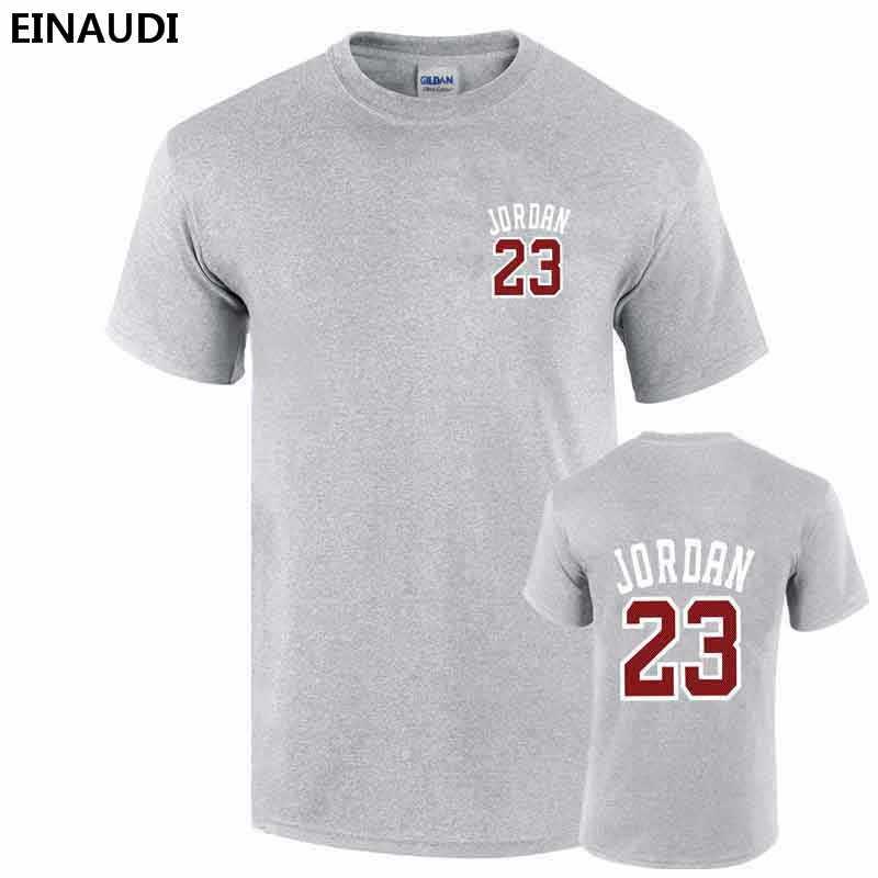 free shipping 2ba0f 73097 ... 2017 Summer EINAUDI New Men Jordan 23 Printed T-shirts Swag 100% Cotton  Skating ...