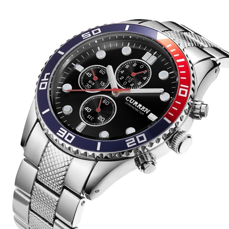 Curren Watches Men Luxury Analog Steel Case Men's Quartz Sports Watches Man Army Military Wrist Watch Relogio