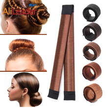 7colors 1pc Pcs Women Girls Magic Hair Styling Donut Bun Maker Elastic Hairband