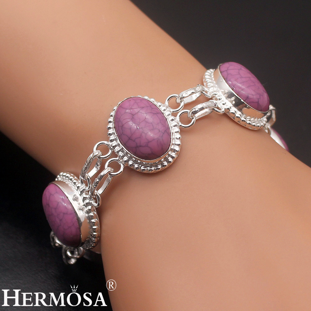 jewelry sterling in accessories link gift amazing snakeskin item chain hot bracelet links from stone unique bracelets purple silver