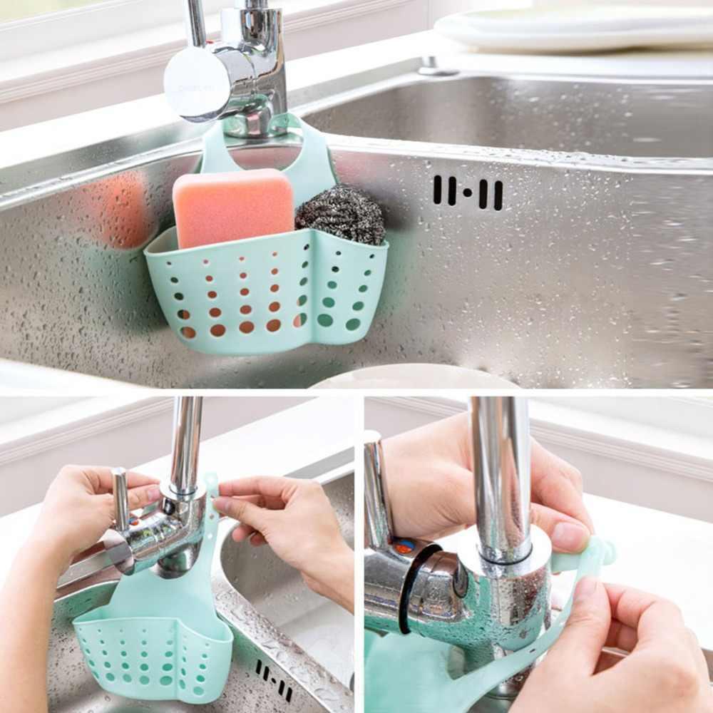 Creativa cocina, fregadero de baño, esponja de succión, estantería colgante, escurreplatos, paños, bolsas, cestas de almacenamiento, herramienta de limpieza