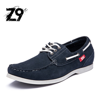 Top Men Boat Shoes Moccassine Style Comfortable Summer Flats Cow Suede Handmade Quality Leather Classic Three