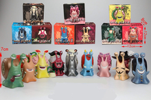 Lensple One Piece  Anime 9cs/set Den Mushi Mini Action Figures Dracule Mihawk Kuma Black Beard Doflamingo PVC Figure Toys