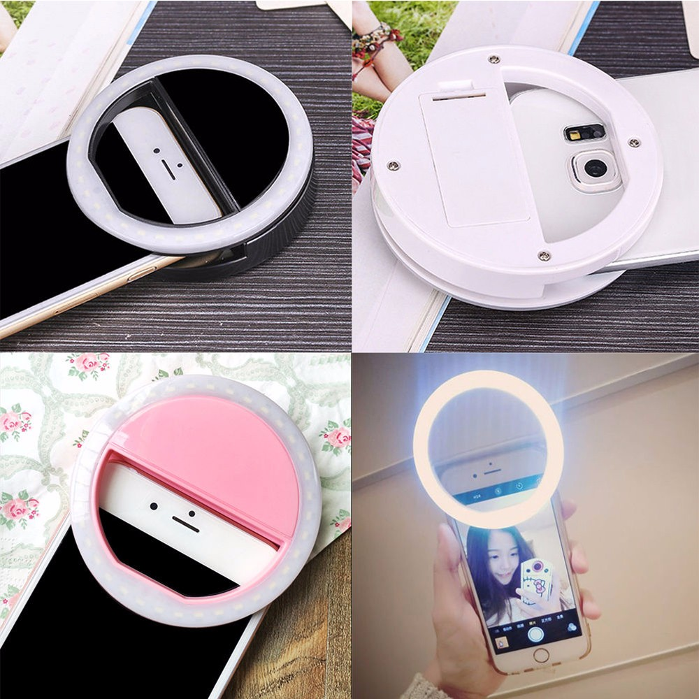 Practical and Portable Selfie Flash LED Phone Camera Ring Light For Apple Iphone Samsung HTC 14