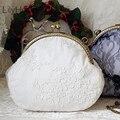 LilyHood 2020 Женская потертая шикарная кружевная сумка на плечо ручная работа винтажная Ретро викторианская Свадебная сумка с замком и цепочкой