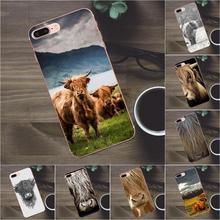 Bixedx vaca de las montañas suave TPU funda móvil para Apple iPhone 4 4S 5 5C SE 6 6S 7 8 Plus X Galaxy A3 A5 J1 J2 J3 J5 J7 2017