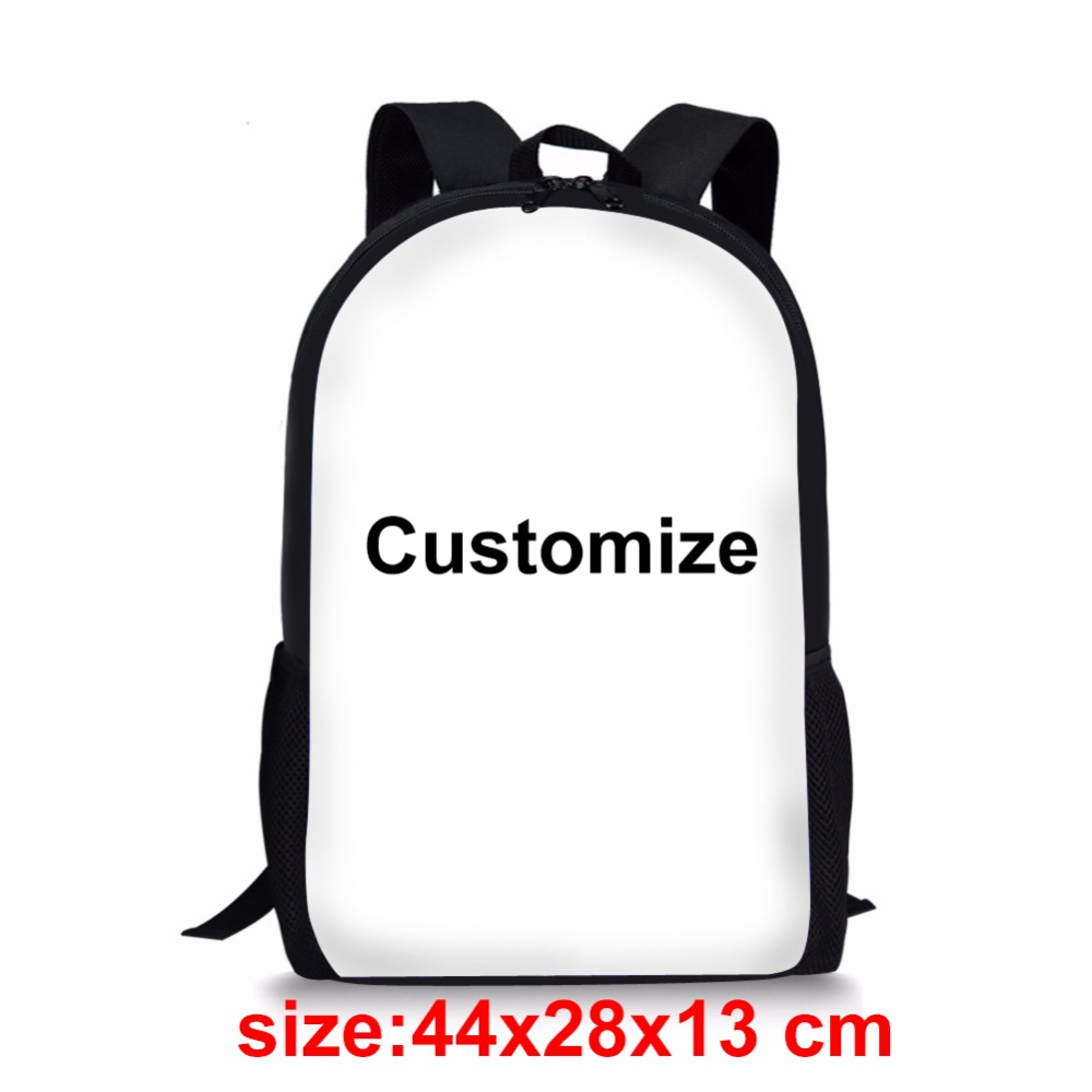 FORUDESIGNS Customized Your Image Printing Backpack For Children Cool School Bag Student Kids Bagpack Teen Boys Girly Rucksack