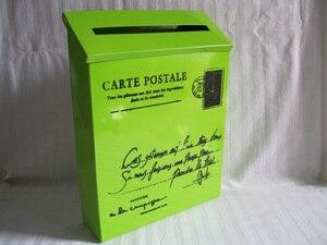 Image 2 - 22X6.5XH29CM vert boîte postale boîte aux lettres métal pâques fête décoration saint Patrick ornement